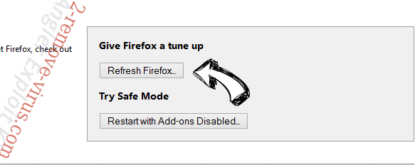 Alpha Shoppers Ads Firefox reset