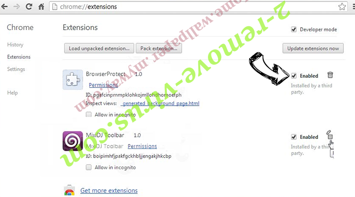 Moonly Search virus Chrome extensions disable