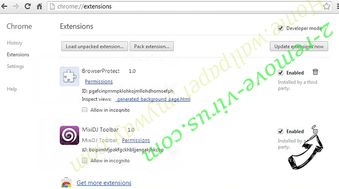 Moonly Search virus Chrome extensions remove