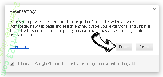 UpdateAdmin Chrome reset