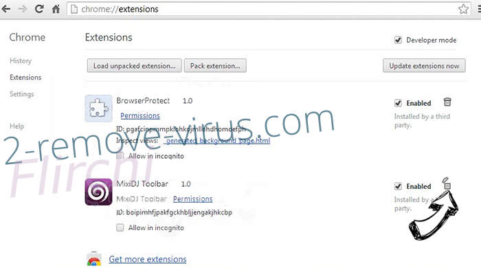 Fuq.com Virus Chrome extensions remove