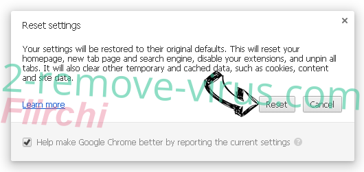 Nordwest.xyz Chrome reset