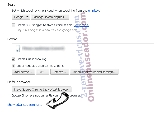 Onlinebuscador.com Chrome settings more