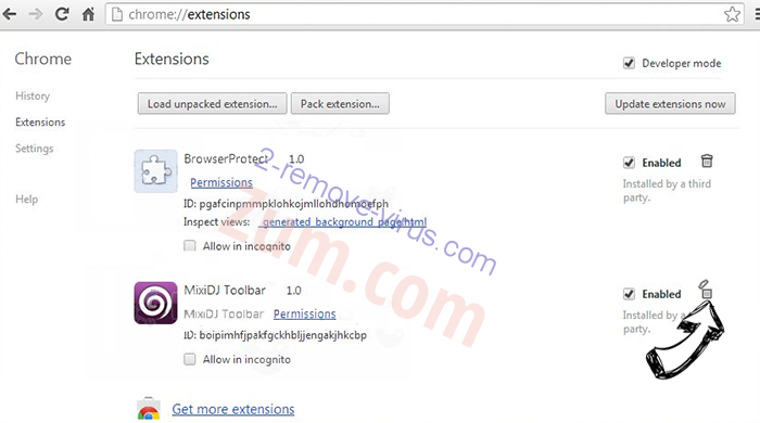 Court Order Email Virus Chrome extensions remove