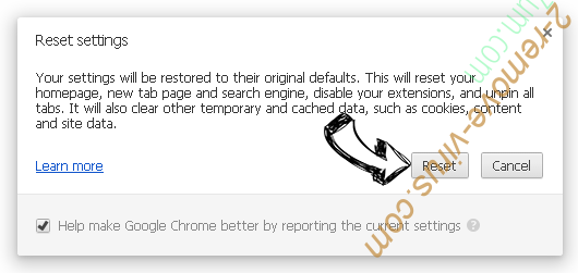 Call Immediately Toll-Free POP-UP Scam Chrome reset