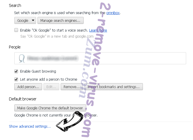 Browser-search.net Chrome settings more