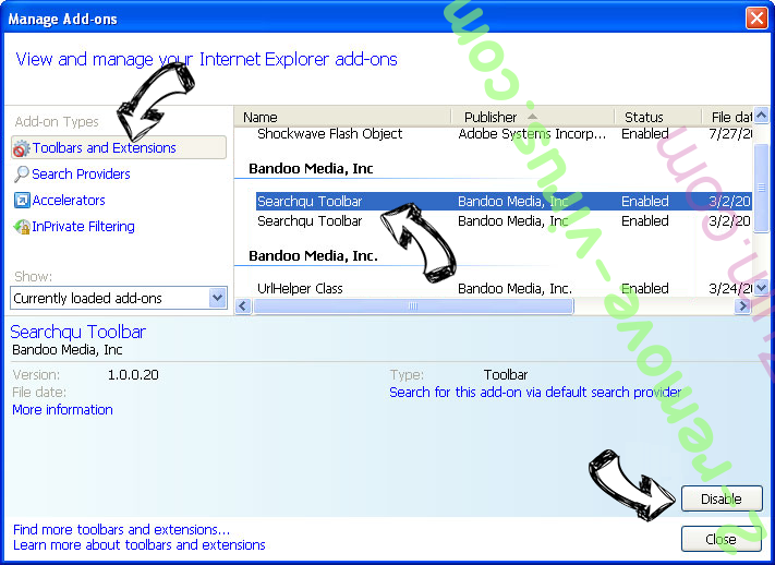 Call Immediately Toll-Free POP-UP Scam IE toolbars and extensions