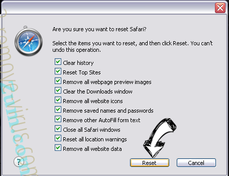 Search.linkmyc.com Safari reset