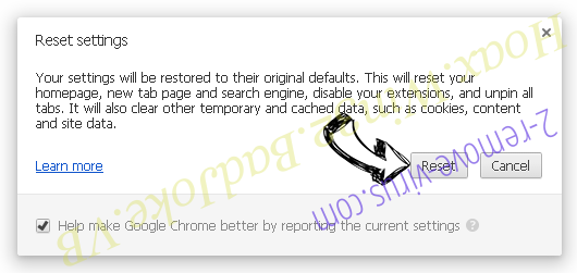 Hoax.Win32.BadJoke.VB Chrome reset