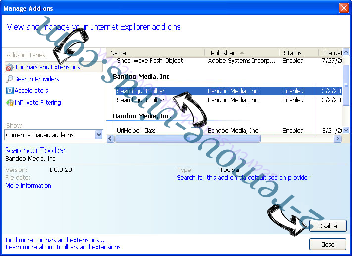 Hao.7654.com IE toolbars and extensions