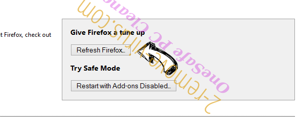 OneSafe PC Cleaner Firefox reset