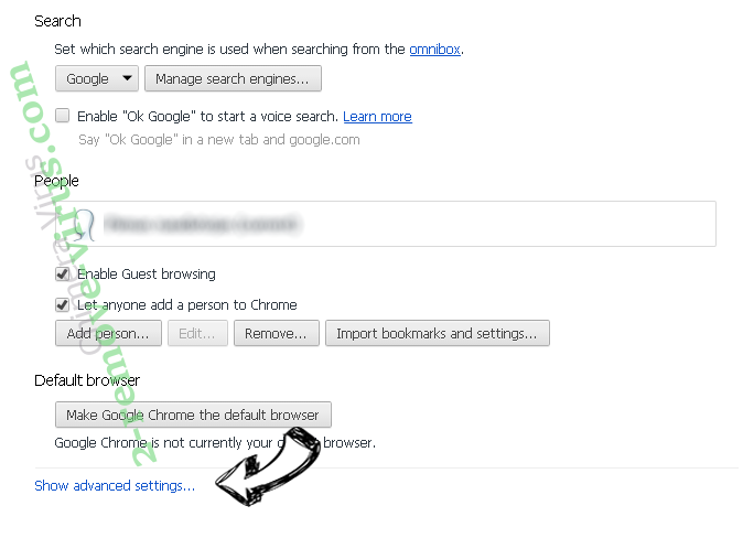 Qwant.com Search Chrome settings more