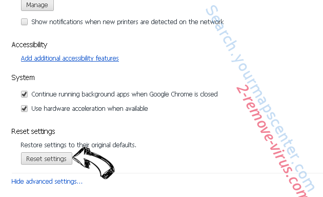 Online Browser Advertising Chrome advanced menu