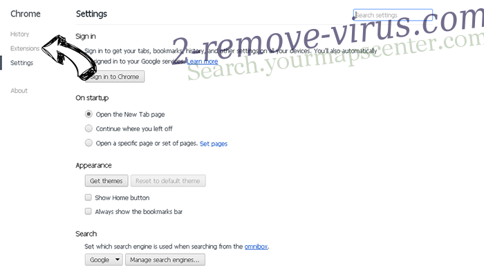 Quivisi.com Chrome settings