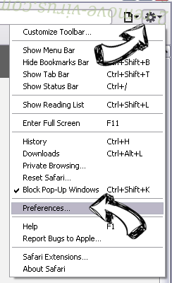 V-bytes Safari menu