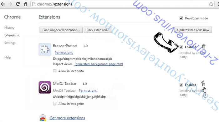 FBI Moneypak Virus Chrome extensions disable