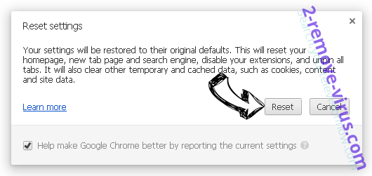 Searcholive.com Chrome reset