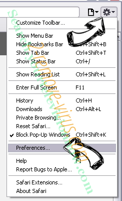 FBI Moneypak Virus Safari menu