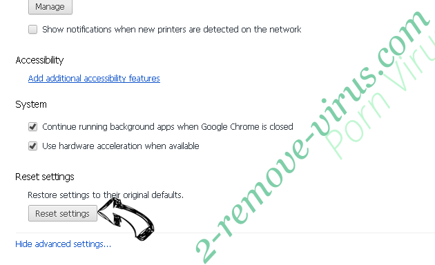 Searchfrom.ru Virus Chrome advanced menu