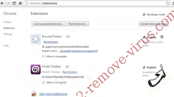 Searchfrom.ru Virus Chrome extensions remove