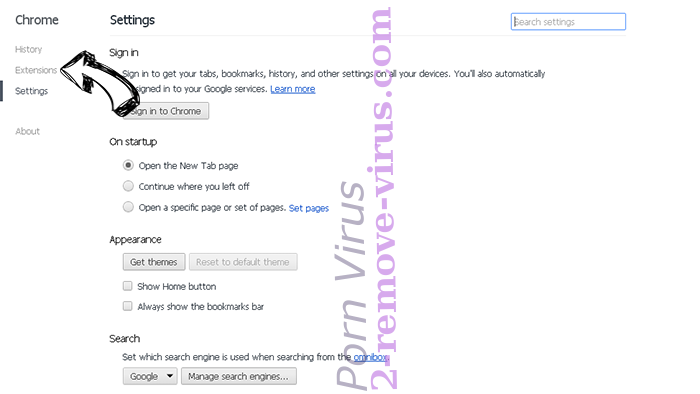 Search.yoursocialhubnow.com Chrome settings