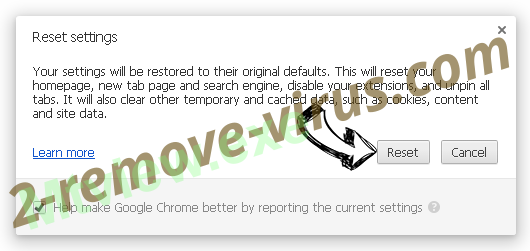 Palikan Virus Chrome reset