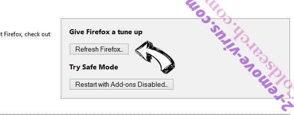 AlphaShoppers Virus Firefox reset