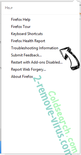 Coldsearch.com verwijderen Firefox troubleshooting