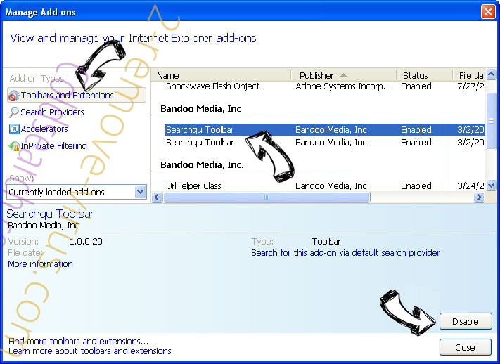 Lifesearch16.club IE toolbars and extensions