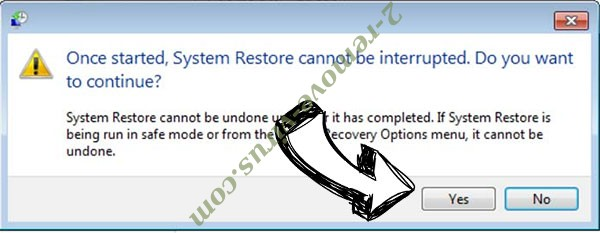 Cccmn Ransomware removal - restore message