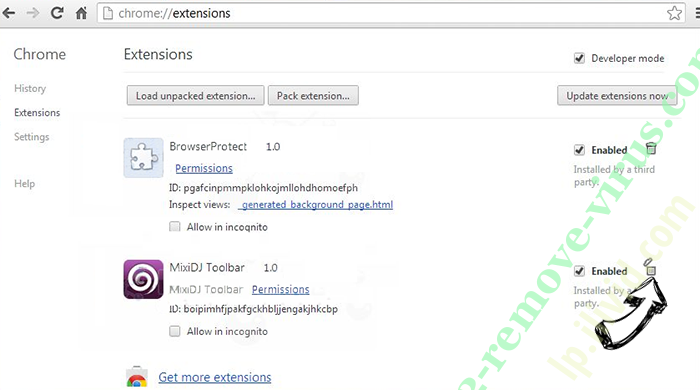 Mysearchengine.ru Chrome extensions remove