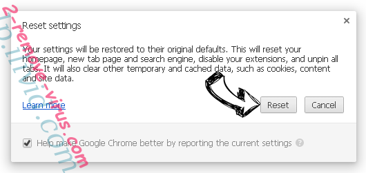 Incognitosearches.com Chrome reset
