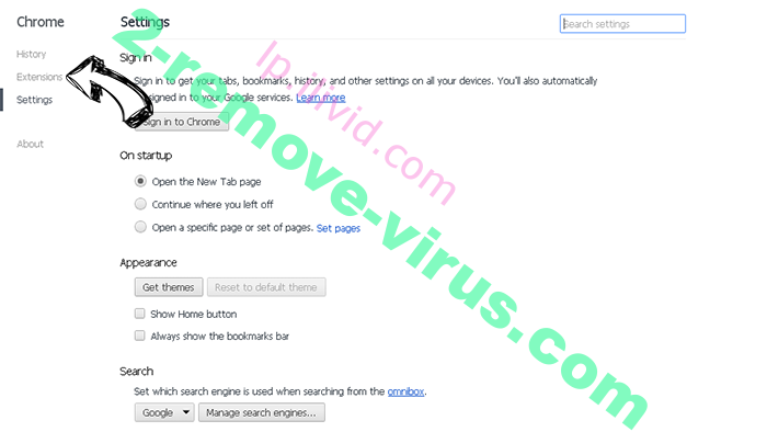Antivirus Security Pro Chrome settings