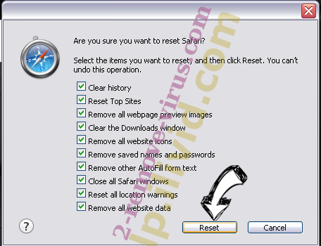 Antivirus Security Pro Safari reset