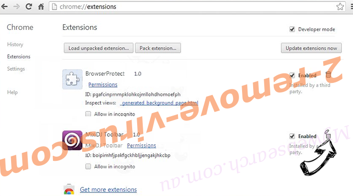 Mysearchmarket.com Chrome extensions remove