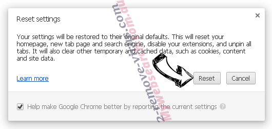 Airzip.inspsearch.com Chrome reset