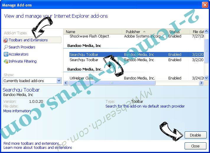 Airzip.inspsearch.com IE toolbars and extensions