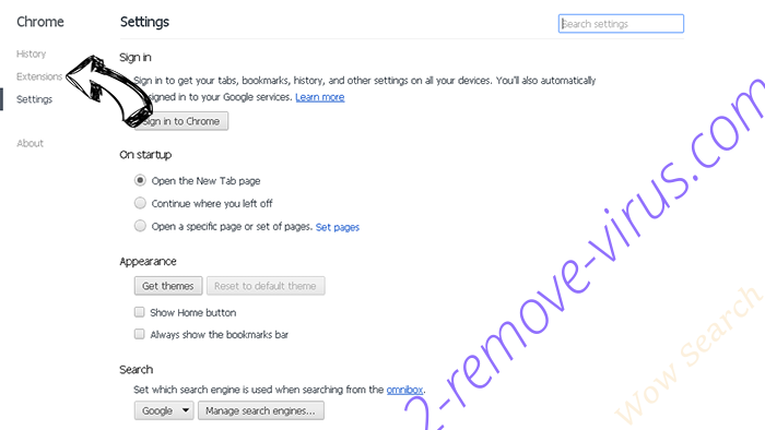 Amisites.com Chrome settings