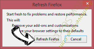 Search.golliver.com Firefox reset confirm