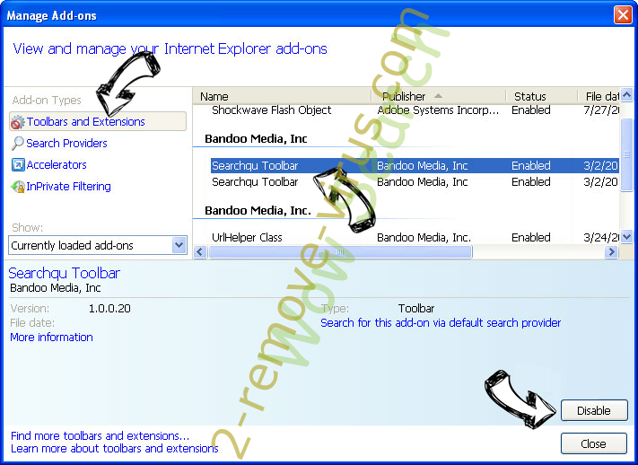 Search.golliver.com IE toolbars and extensions