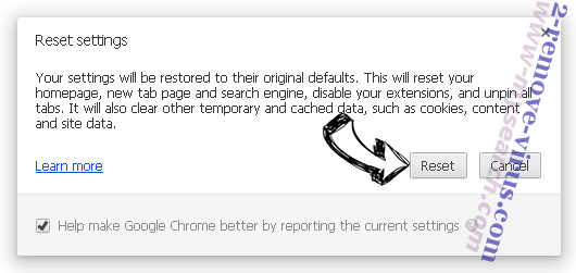 Rimuovere www-mysearch.com Chrome reset