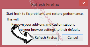 Search Window Ads Firefox reset confirm