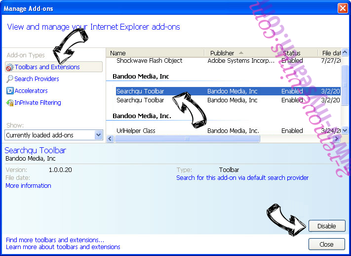 www-mysearch.com IE toolbars and extensions
