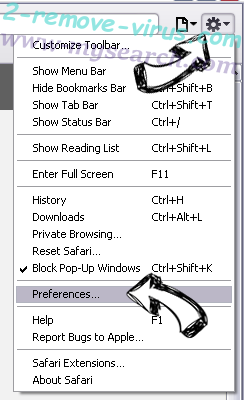 PC Clean Pro Safari menu