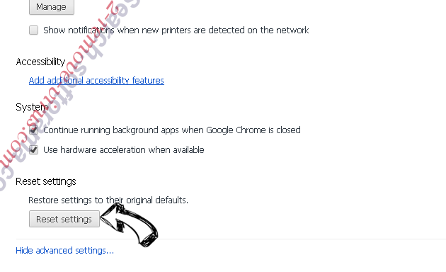 Searchdisk.de Chrome advanced menu