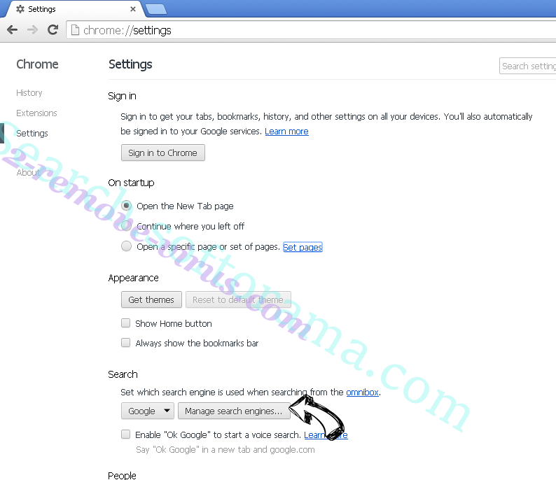 Mys.yoursearch.me Chrome extensions disable