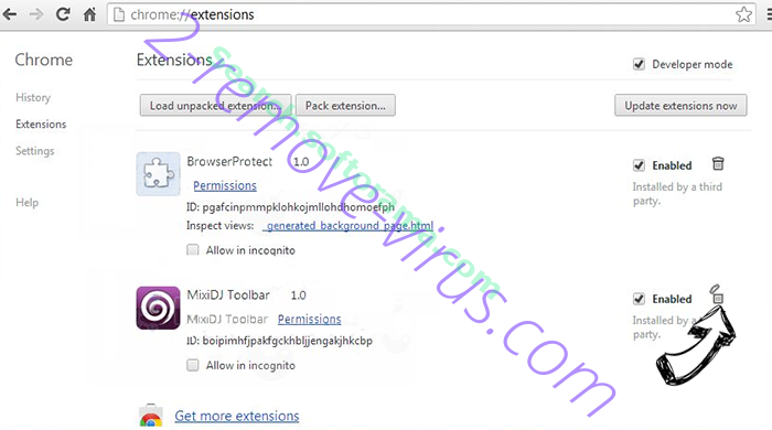 Mys.yoursearch.me Chrome extensions remove