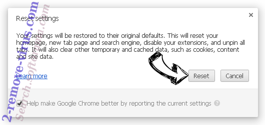 BrowserAir Chrome reset