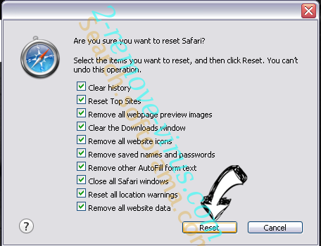 BrowserAir Safari reset