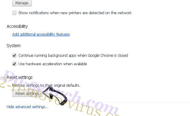 Clotraiam.website Chrome advanced menu